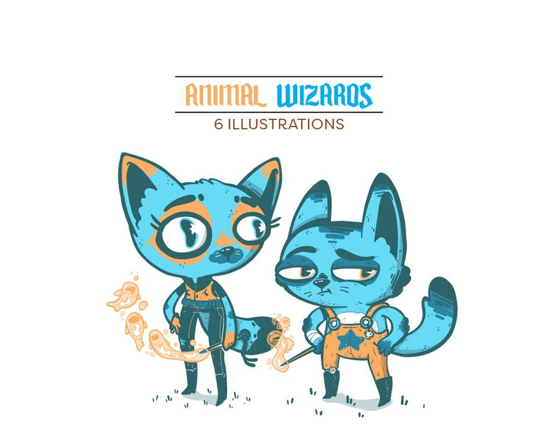 Animal Wizard Clip Art & Pattern image 0