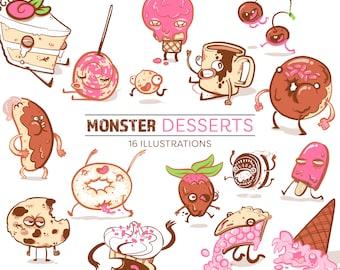 Monster Dessert Clip Art