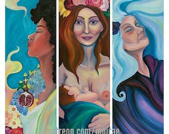 Triple Goddess Series Fine Art Print