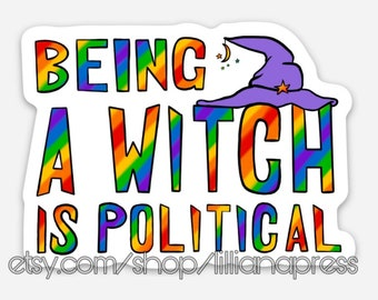 Pack of Political Witch Stickers