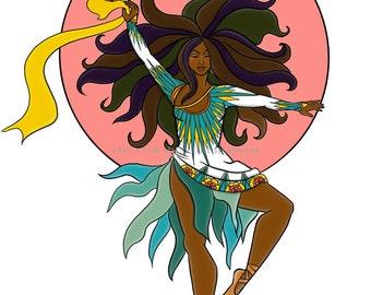 Goddess Series Dancing Art Print