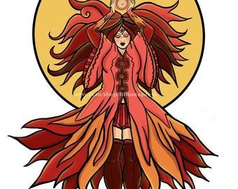 Goddess Series Fire Art Print