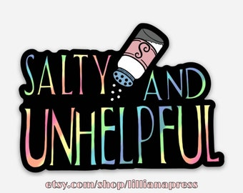 Pack of Salty & Unhelpful Stickers