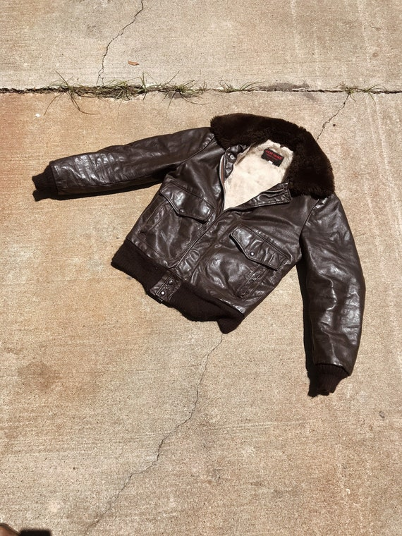 Shearling Leather Motorcycle Jacket