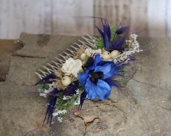 Hair comb - Blue love