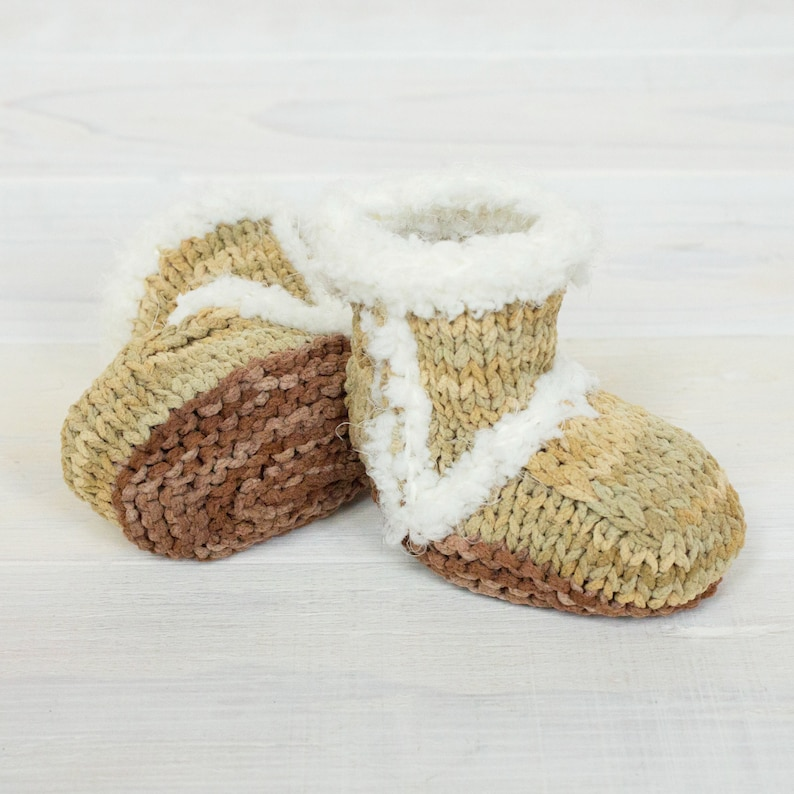 d7a117fd1c8 Hand Knit Ugg Inspired Baby Booties