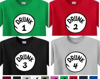 bcf680129 DRUNK 1 t shirt DRUNK 2 3 4 5 6 etc. St Patrick's day