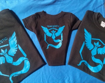 b5efb1a99 Pokemon Go black t shirt Team Mystic all sizes