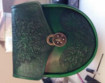 leather greenman sporran