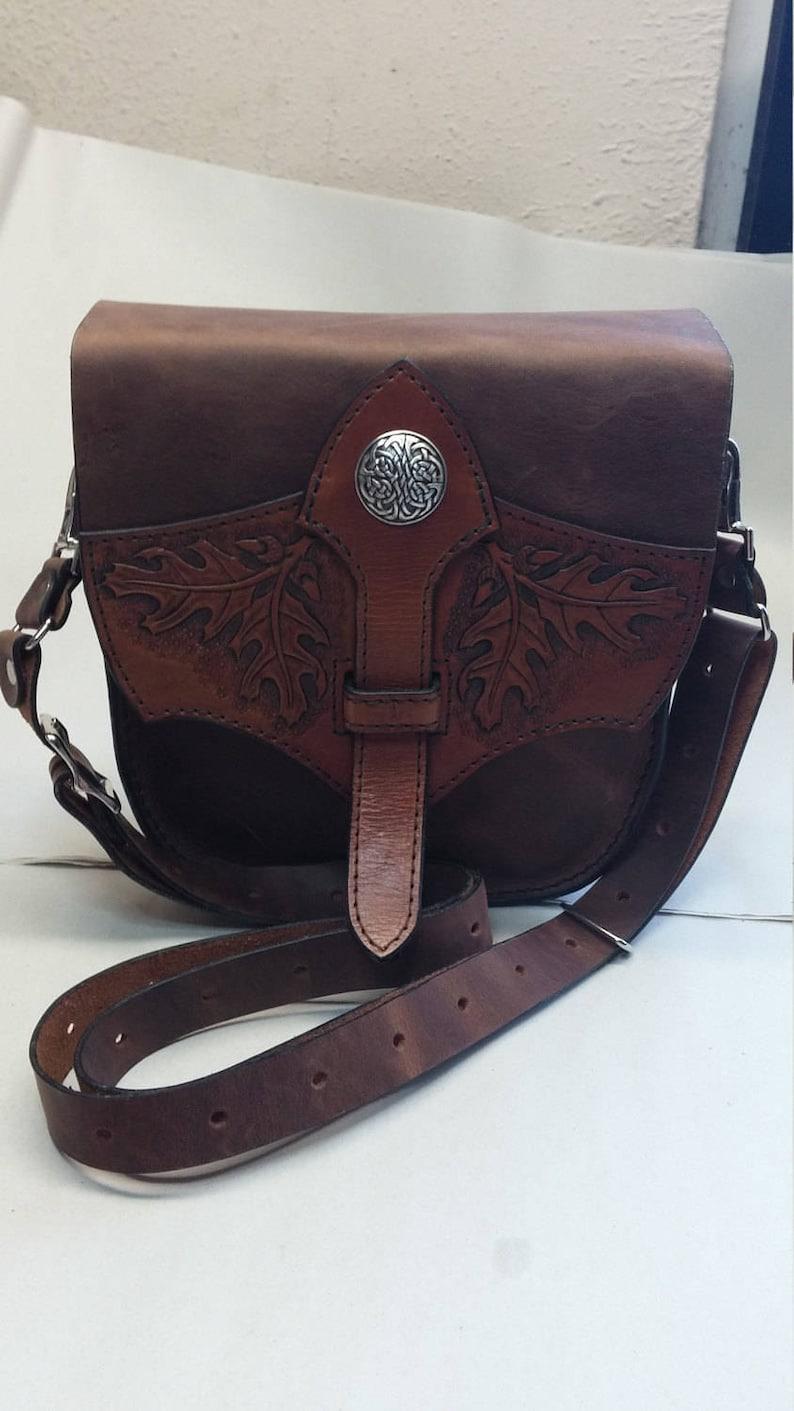 Celtic oak tongue bag