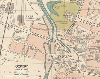 1920 Oxford United Kingdom (Great Britain) Vintage map
