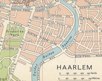 Antique haarlem map | Etsy