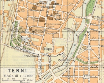 Vintage italy map   Etsy