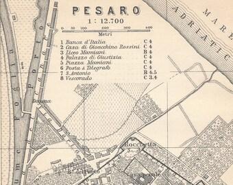 1909 Ostia Italy Antique Map Etsy