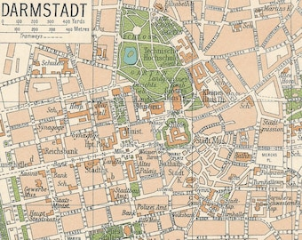 Bow Darmstadt Map Etsy