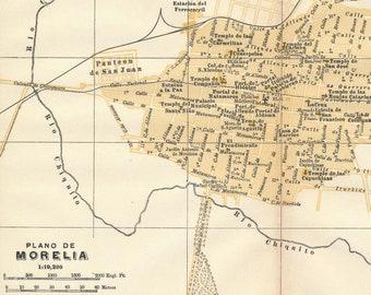 Mexico Map 1794.1925 Mexico City Mexico Antique Map Etsy