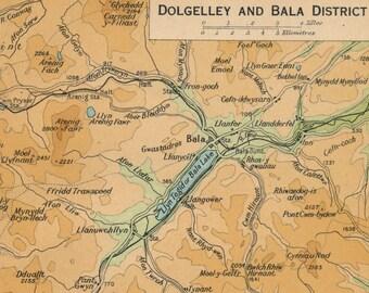 1948 Dolgellau & Bala, Wales, United Kingdom (Great Britain) Vintage map