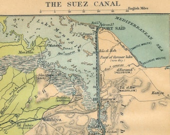 Suez c map | Etsy Suez C Map on