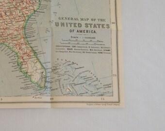 Ähnliche Artikel wie Nordamerika, 1800 Karte, Vintage USA ...