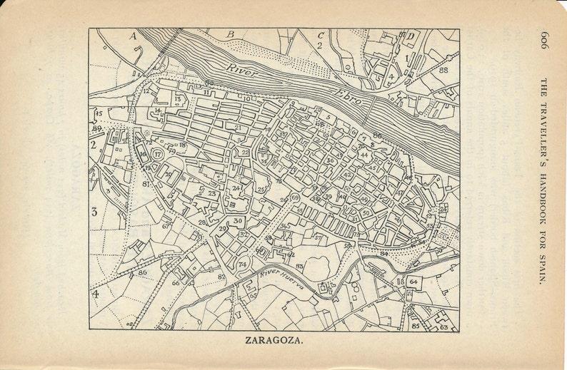 1924 Zaragoza Spain Antique Map on tarraco spain map, barcelona spain map, tarragona spain map, aragon spain map, paris spain map, rio ebro spain map, alquezar spain map, jerez de la frontera spain map, marbella malaga spain map, madrid spain map, andujar spain map, mieres spain map, ponferrada spain map, southern spain map, sagunto spain map, huesca spain map, zarautz spain map, teguise spain map, bilbao spain map, zamora spain map,