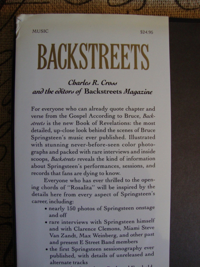 Bruce Springsteen, Backstreets