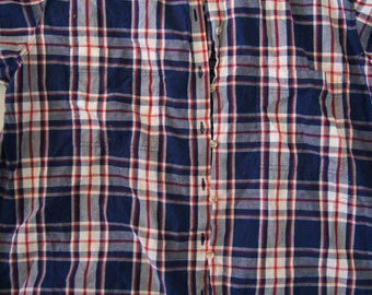 ea3e124b278654 Vintage 1970 s - Plus Sized Men s Geoffrey Hunter shirt - Plaid short  sleeve button down shirt size 20w 40