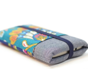 Fabric bag ethnic iPhone pouch colorful smartphone case for iPhone 6, 6, 7, samsung galaxy cover case phone folding, women gift