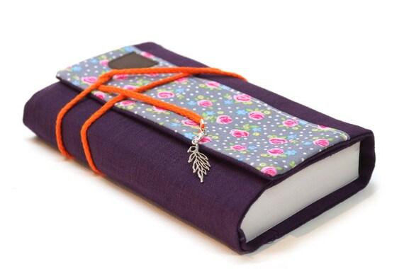 Couverture Livre Tissu Liberty Protege Livre Poche Lin Avec Rabat Etui Grand Livre Protection Agenda Accessoires Livre Cadeau Femme