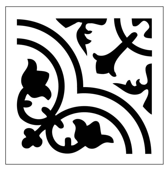 TILE34 Reusable Laser-Cut Floor or Wall Tile Stencil