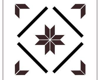 TILE65Q Reusable Laser-Cut Floor or Wall Quarter Tile Stencil