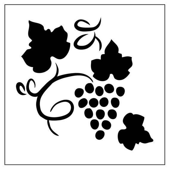leaf04 reusable 7mil 17mm laser cut mylar stencil grapes etsy Grape VATS Fibergalss image