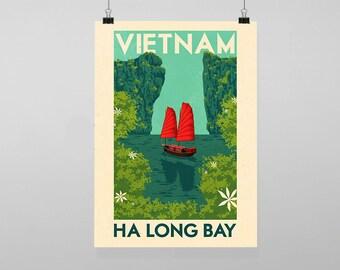 Vietnam poster | Etsy