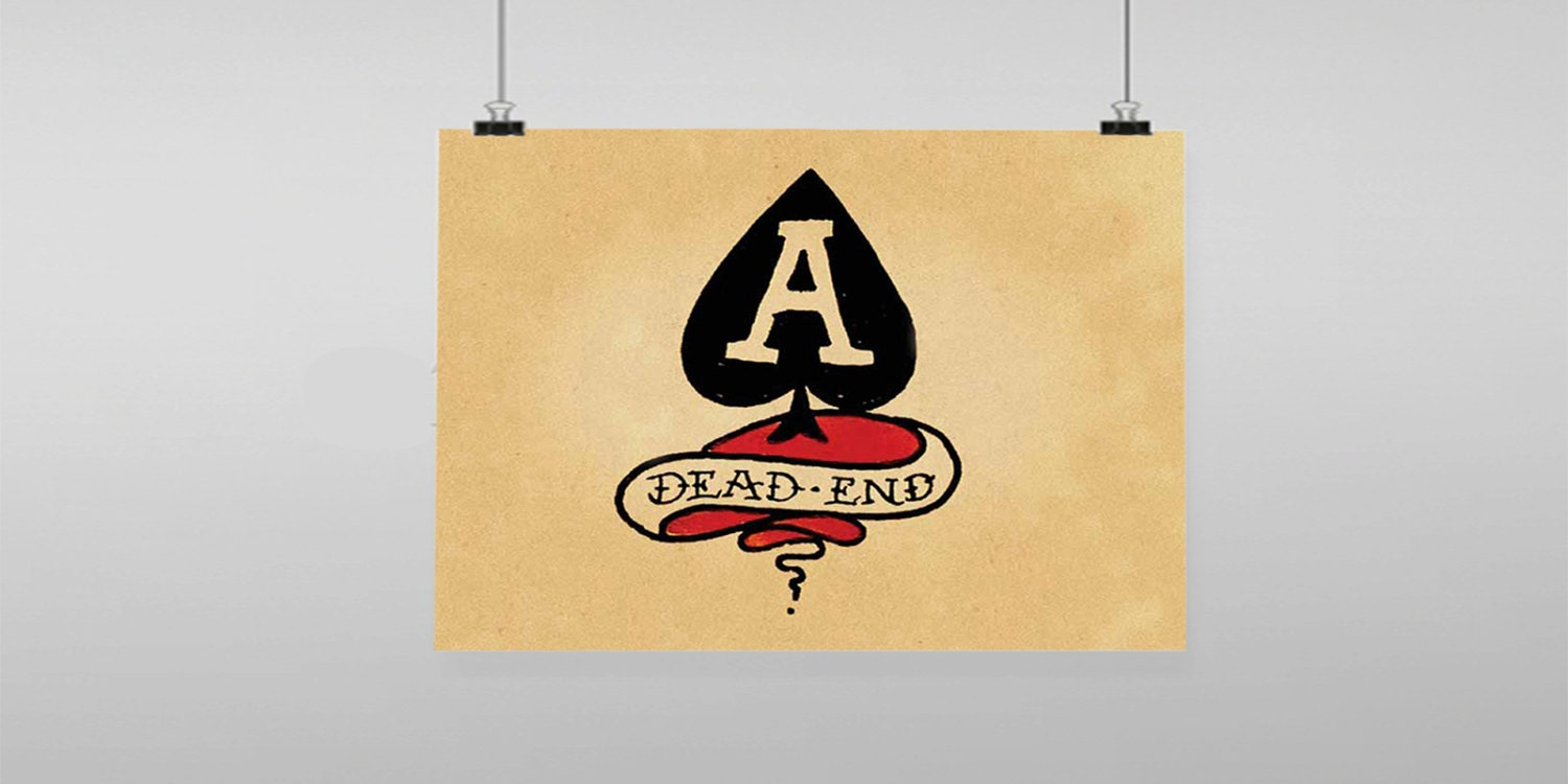 Dead End A Spades Sailor Jerry Vintage Reproduction Wall