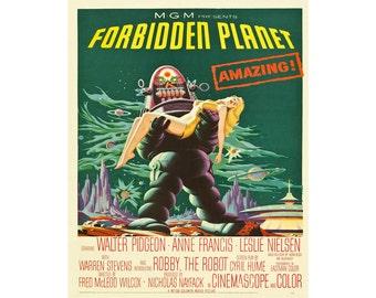 Forbidden Planet Movie Vintage Enamel Metal TIN SIGN Wall Plaque