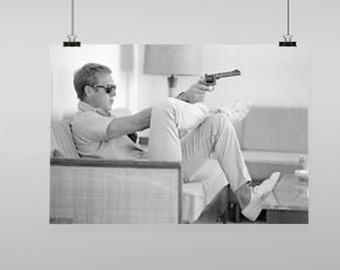 Steve Mcqueen Icon - Vintage Reproduction Wall Art Decro Decor Poster Print Any size