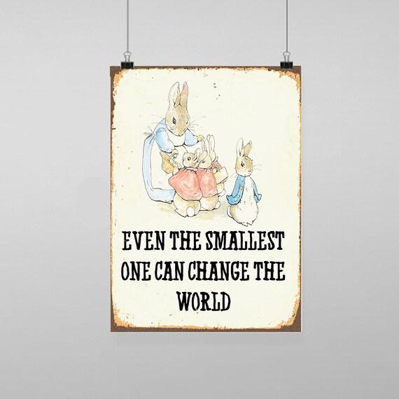 Peter Rabbit Smallest Vintage Art Print Poster A1 A2 A3 A4 A5