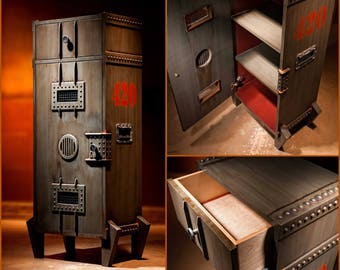Beau Steampunk Furniture. Bar Furniture. Office Furniture. Liquor Cabinet