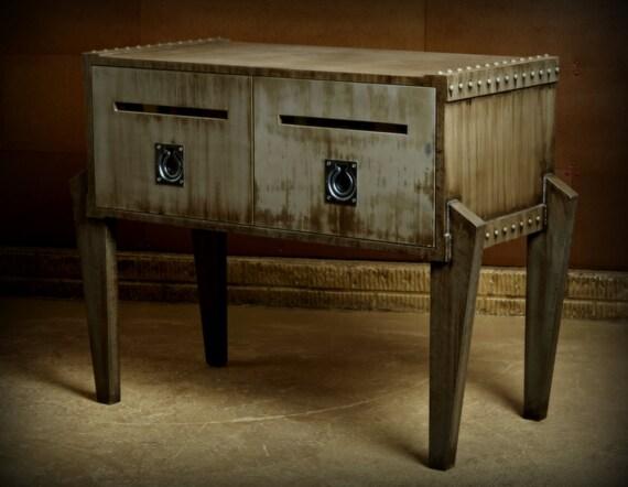 Mobilier industriel meuble de steampunk bureau meubles etsy