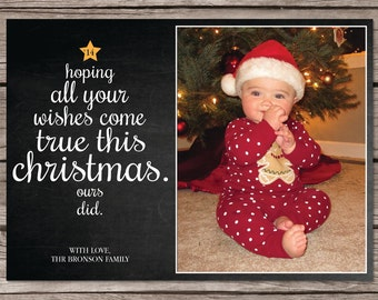christmas pregnancy announcement card photo holiday card etsy