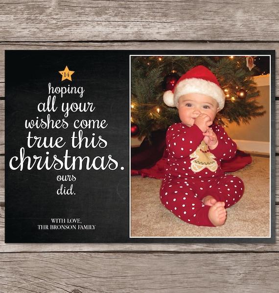 Christmas Card With Photo Photo Christmas Card Christmas Etsy