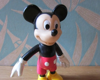 Vintage plastic Disney Mickey Mouse toy, made in China