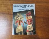 1991 The Brooklyn Museum Six Kachina Doll Cards postcard book