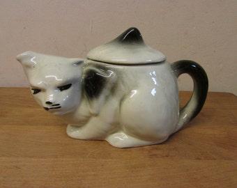 Vintage Ginger Cat Teapot Tabby Cat Novelty Teapot Hand Painted Cat Teapot Woolworths Original Teapot