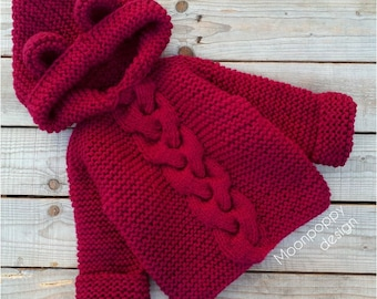 Red Baby Sweater Etsy