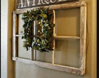 window pane wreath etsy
