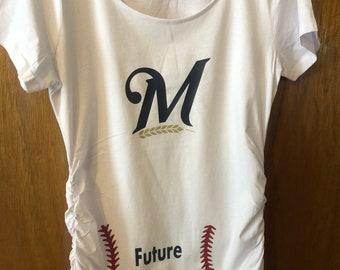 476df96d0dbe9 SALE gender reveal shirt - maternity baseball shirt - baseball stitches  shirt - Baseball shirt - baby shower gift - shirt for expectant mom