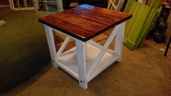 Sale Rustic End Tables Rustic X End Table Farm Style End Etsy