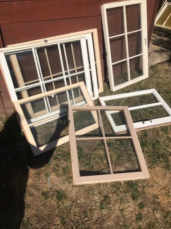 Sale Wood Window Frames Wood Window Panes 6 Pane Wood Etsy