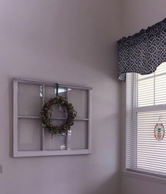 Sale Wood Window Pane Wreath Hanger Wood Window Frame 6 Etsy