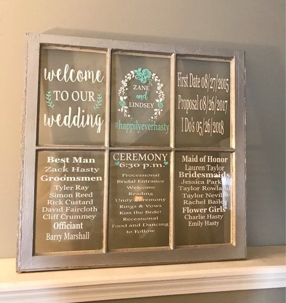 sale sale wedding programs wedding program sign 6 pane etsy